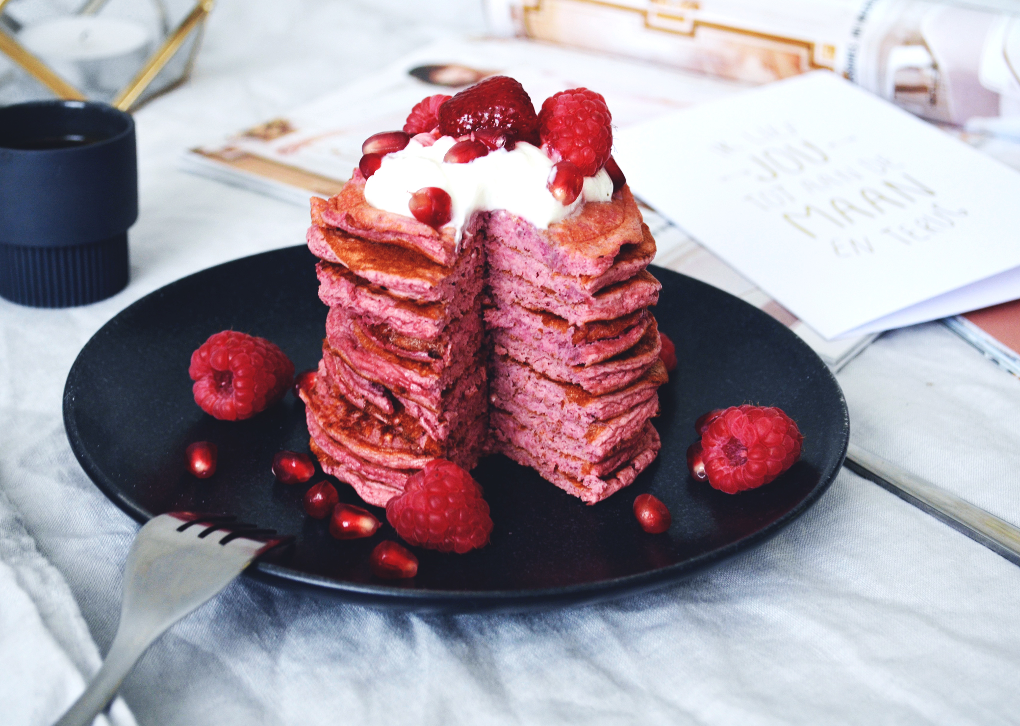 Pink Protein Pancakes - Soophisticated