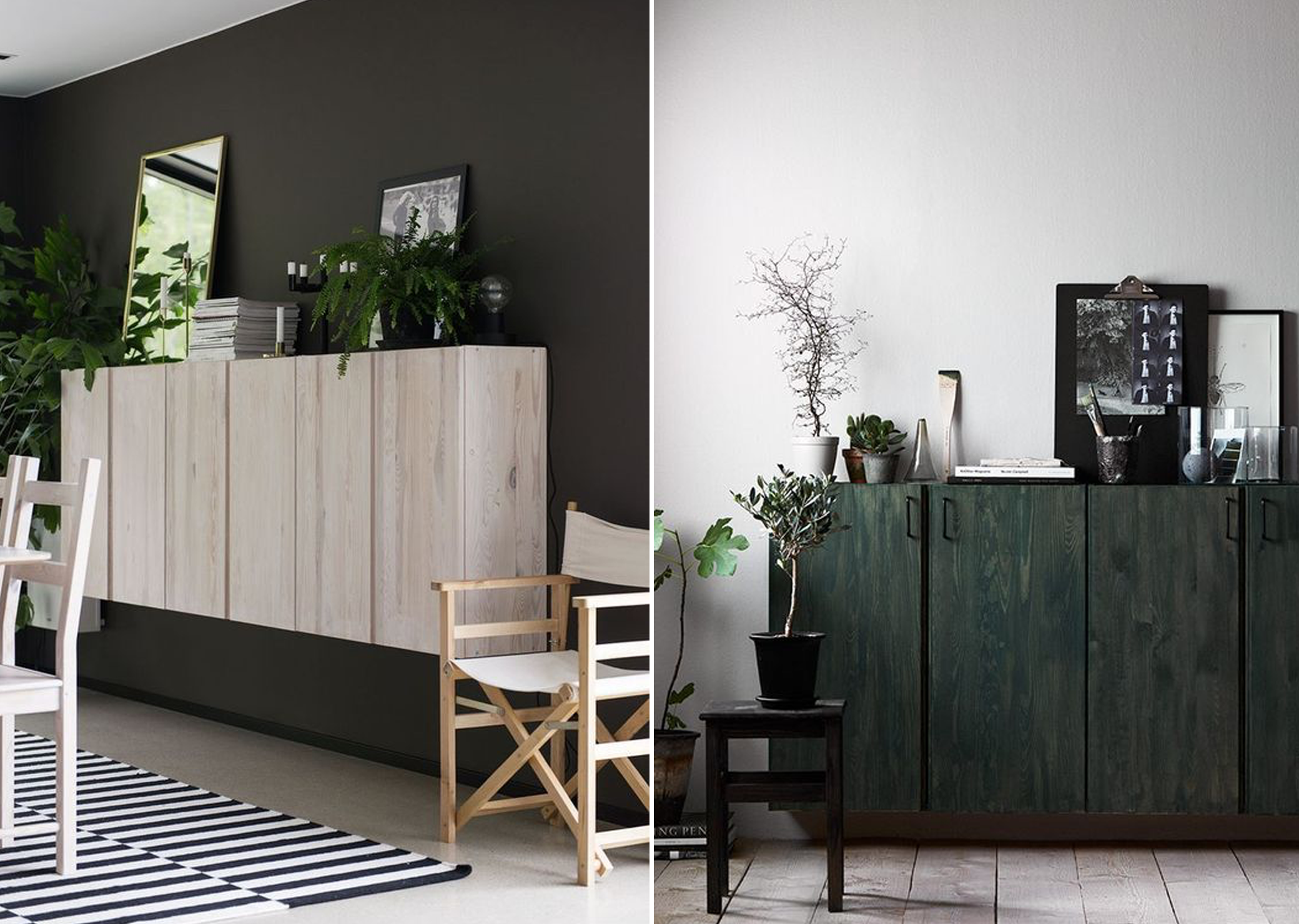 Ikea hack ivar cabinet soophisticated - Sideboard wandmontage ...