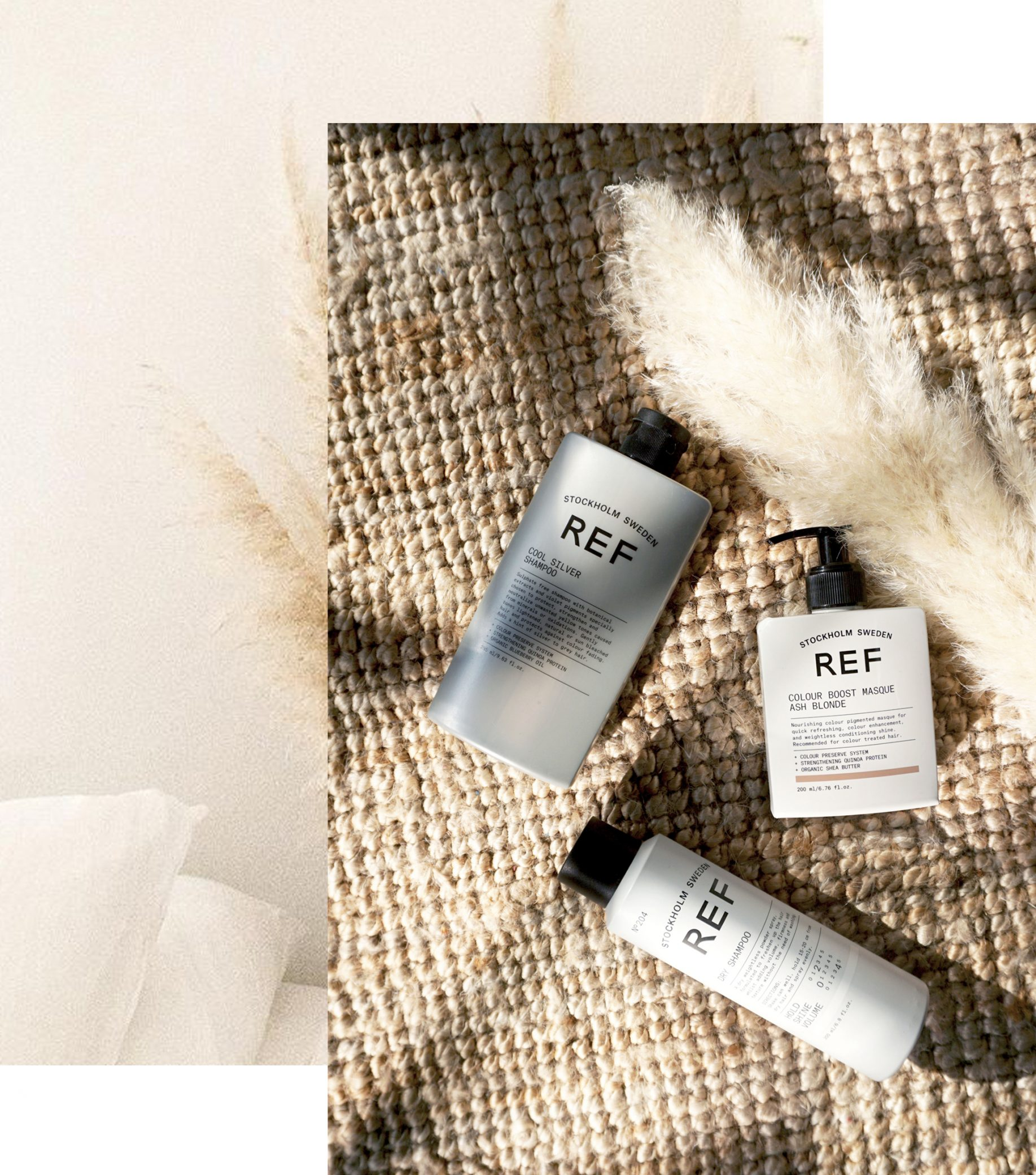 REF Stockholm - Silver Care Shampoo, Ash Blonde Hair Mask, Dry Shampoo